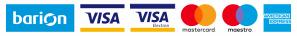 A kényelmes és biztonságos online fizetést a Barion Payment Zrt. biztosítja. Magyar Nemzeti Bank engedély száma: H-EN-I-1064/2013